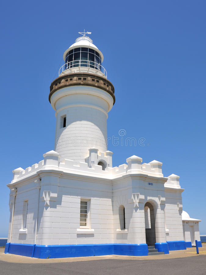 The Cape Byron Lighthouse (Byron Bay, Australia). Photo about The Cape Byron Lighthouse (Byron Bay, New South Wales, Australia). The photo shows the whole stock image