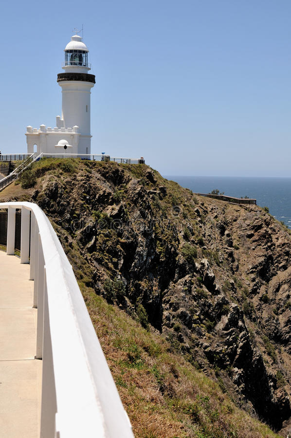 The Cape Byron Lighthouse (Byron Bay, Australia). Photo about The Cape Byron Lighthouse (Byron Bay, New South Wales, Australia). The lighthouse is standing on a stock image