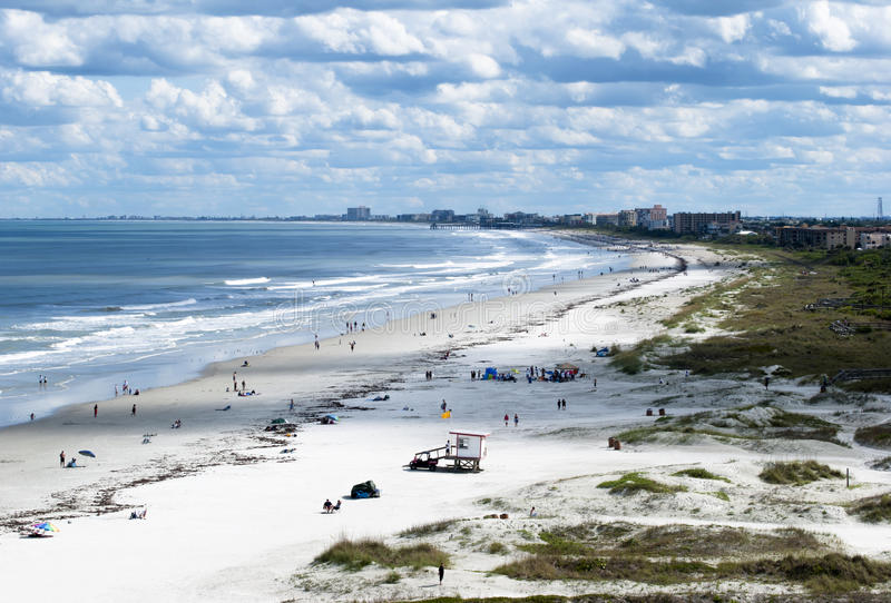 Cape Canaveral Beach. The evening view of Cape Canaveral beach (Florida royalty free stock photo