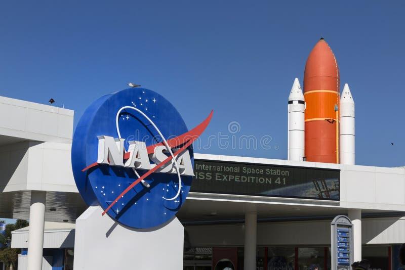 CAPE CANAVERAL, FLORIDA. NASA Kennedy Space Center CAPE CANAVERAL, FLORIDA November 1th, 2014. Interior of NASA Kennedy Space Center, Apollo Saturn V Center at royalty free stock photos