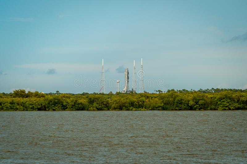 Cape Canaveral, Florida, USA - Space rocket launch pad stock image