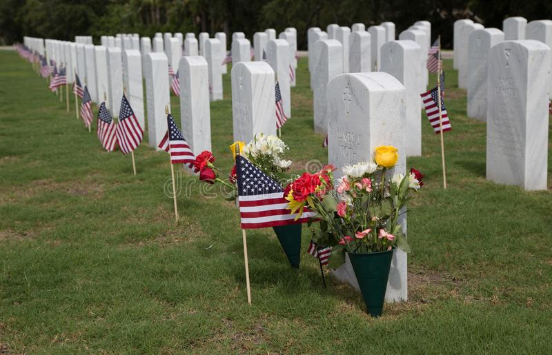 Cape Canaveral National Cemetery stock photo