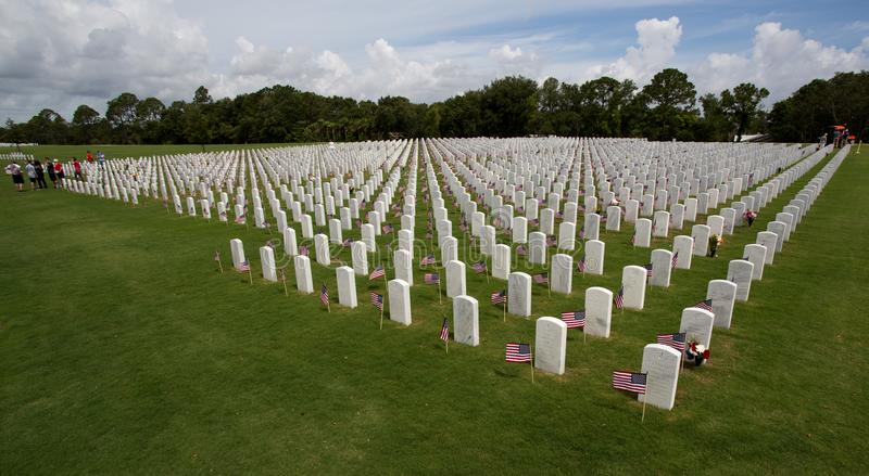 Cape Canaveral National Cemetery in Florida royalty free stock image