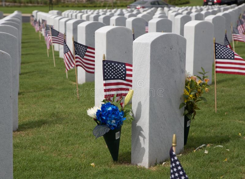 Cape Canaveral National Cemetery in Florida stock images