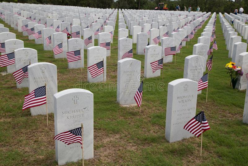 Cape Canaveral nationell kyrkogård royaltyfri fotografi