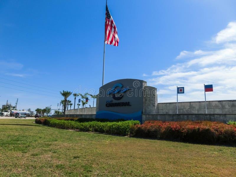Cape Canaveral USA - April 29, 2018: Cape Canaveral port Florida, härlig kust arkivbilder