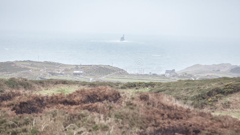 Cape Clear Island looking towards Fastnet royalty free stock image