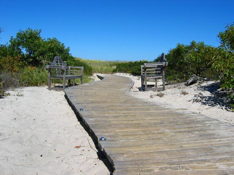 Cape Cod Beach Boardwalk stock photography