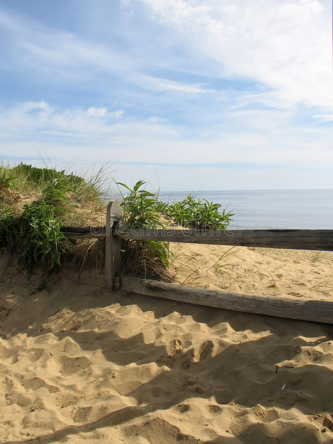 Download Cape Cod Fence stock photo. Image of clouds, vacation, fence - 580552