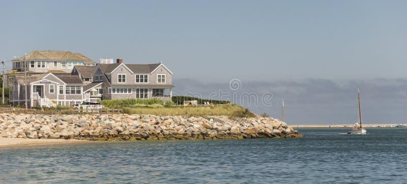 Cape Cod hem arkivbild