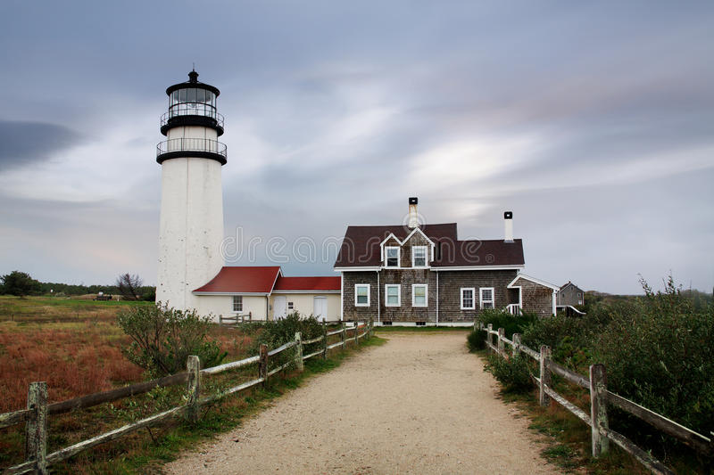 The Cape Cod Highland Lighthouse stock photos