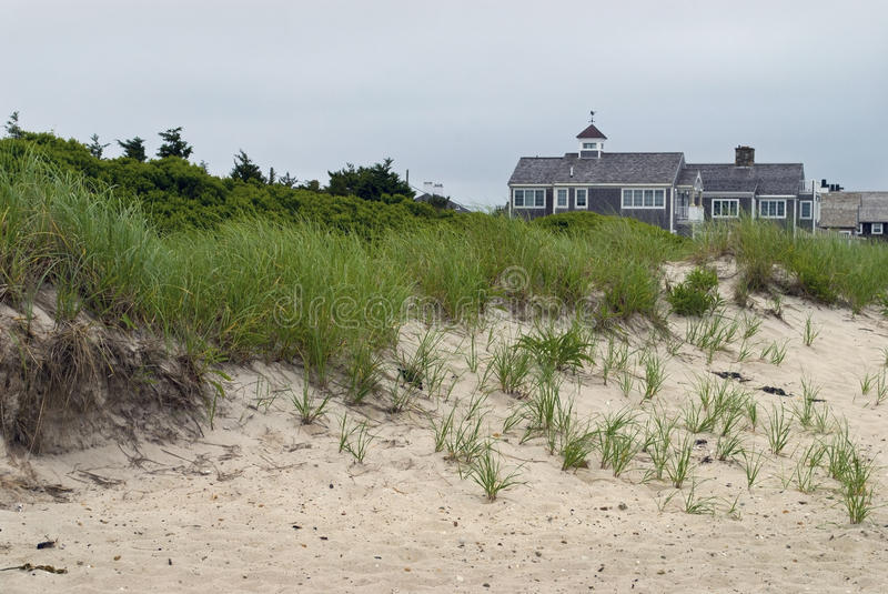 Download Cape Cod Homes and Dunes stock photo. Image of overcast - 20585786