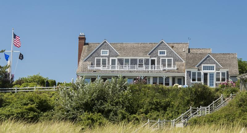 Cape Cod-Huis stock fotografie