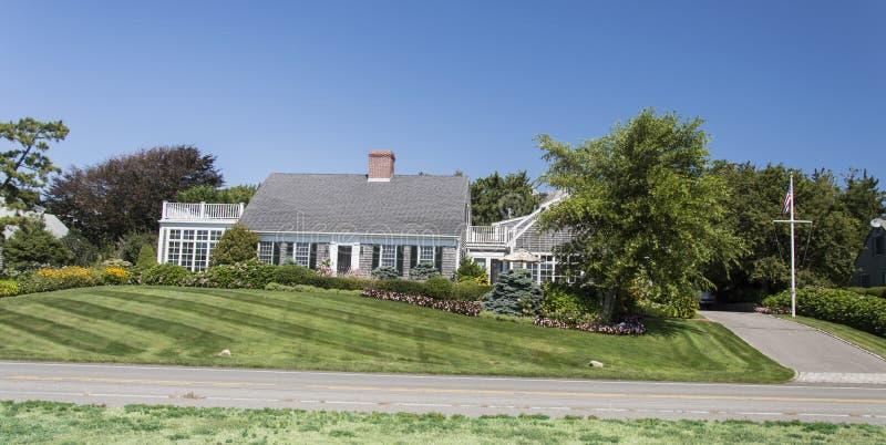 Cape Cod-Huis royalty-vrije stock afbeeldingen