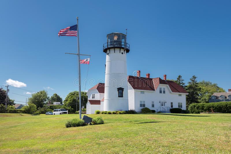 Cape Cod Lighthouse. Chatham Lighthouse at sunny summer day in Cape Cod, New England, Massachusetts, USA royalty free stock photography