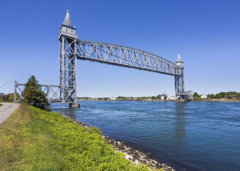 Cape Cod linii kolejowej Kanałowy most zdjęcie royalty free