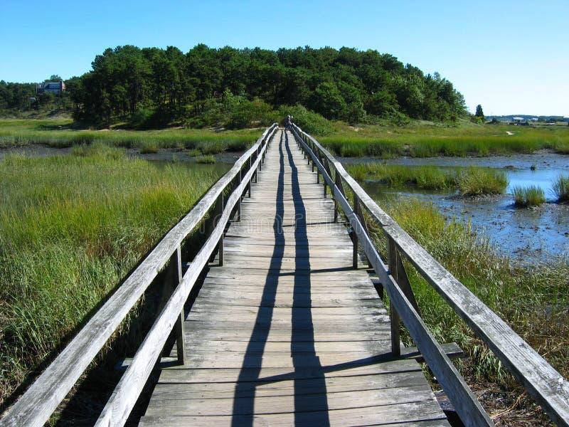 Cape Cod plaży Boardwalk 03 zdjęcia stock