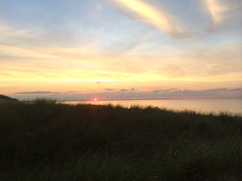 Cape Cod-Sonnenuntergang lizenzfreies stockfoto