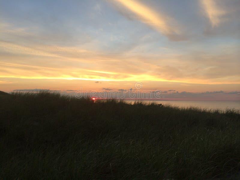 Cape Cod-Sonnenuntergang lizenzfreie stockbilder