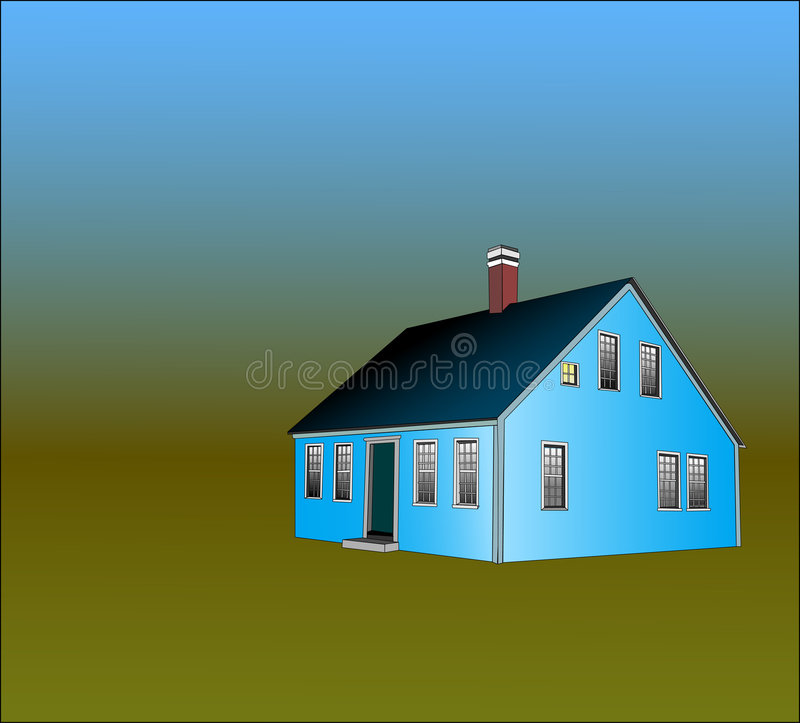 Cape Cod Style House. The Cape Cod Style house was built compact and close to the ground to protect against harsh weather and generally faced south for warmth royalty free illustration