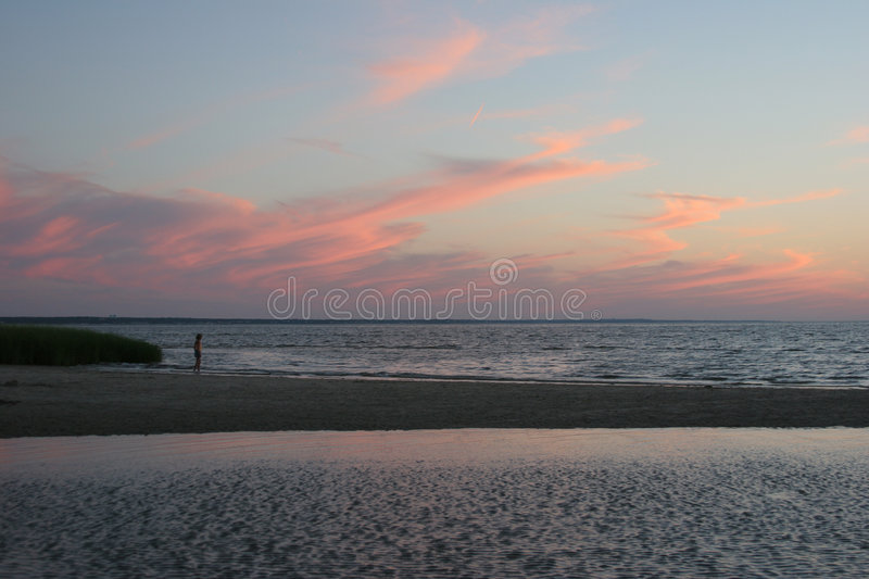 Cape Cod Sunset royalty free stock images