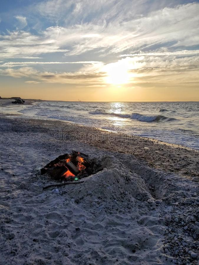 Cape Cody Sunset stock image
