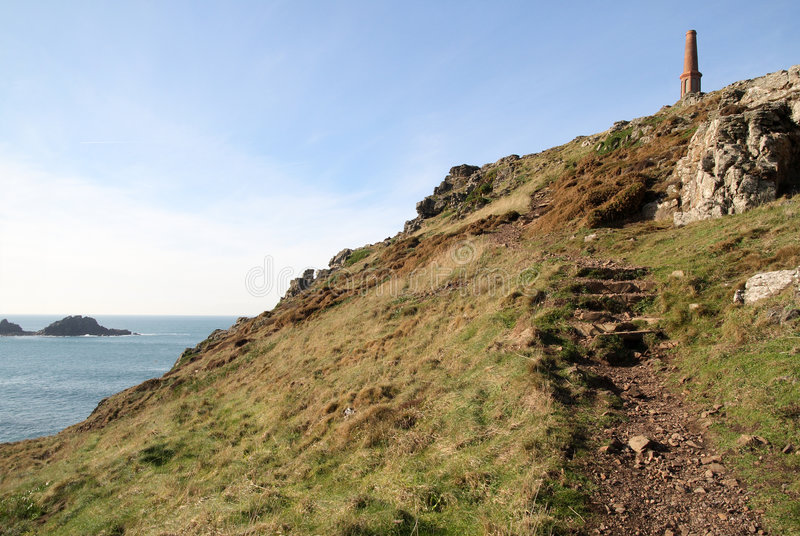 Download Cape Cornwall path. stock photo. Image of ocean, cape - 2332304