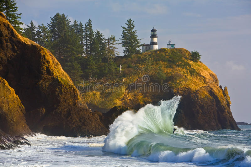 Cape Disappointment Lighthouse royalty free stock images