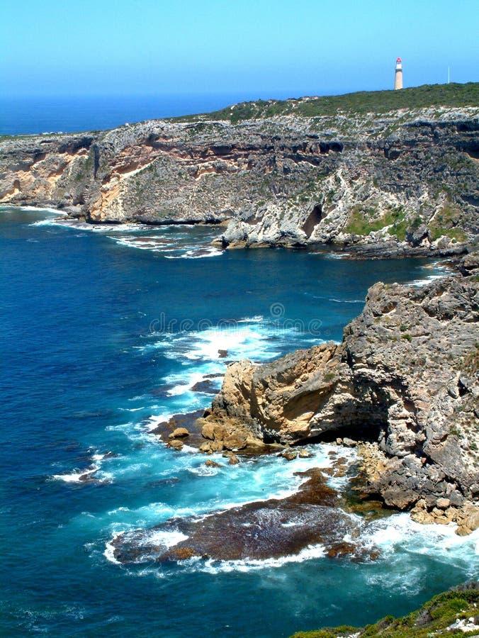 Cape Du Couedic, het Eiland van de Kangoeroe stock afbeelding