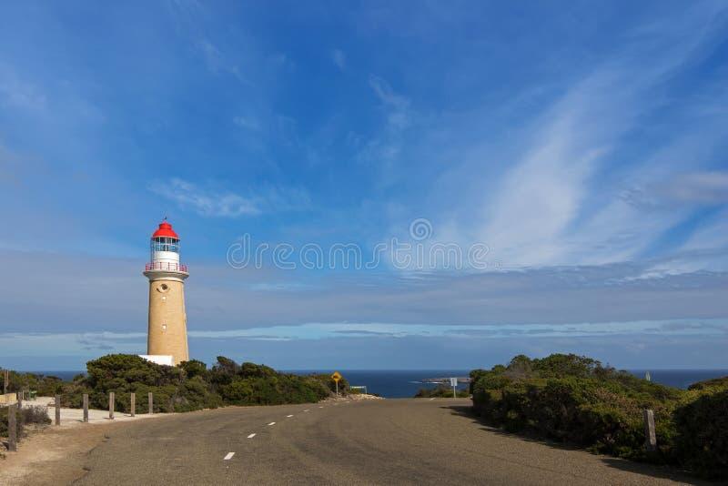 Cape du Couedic Lighthouse σταθμός στο αυλάκωμα εθνικό PA Flinders στοκ εικόνες