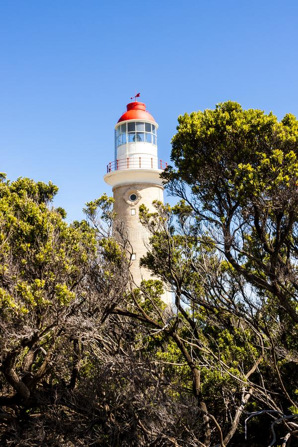 Cape du Couedic Lighthouse station in Flinders Chase National Park, Australia, Kangaroo Island royalty free stock photos
