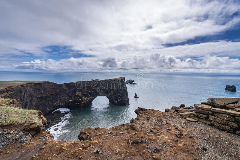 Cape Dyrholaey in Iceland stock image