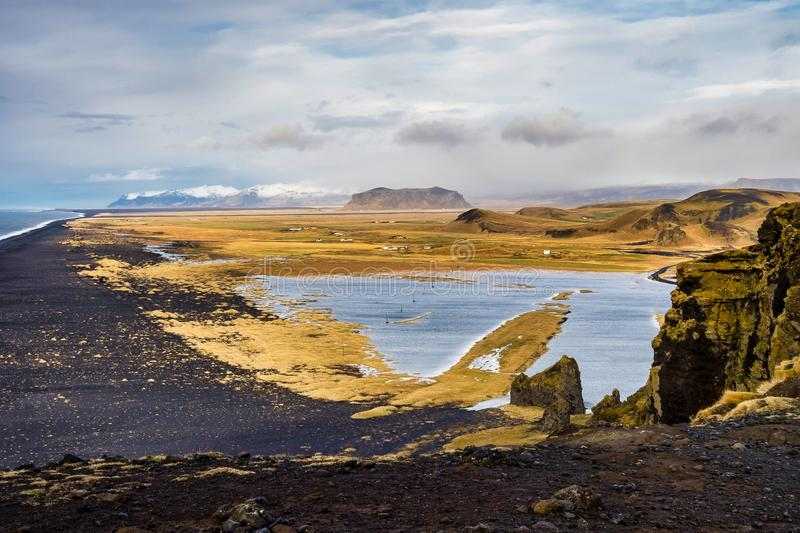 Cape Dyrholaey at southern Iceland in Europe. Cape Dyrholaey at southern Iceland, Northern Europe stock photography