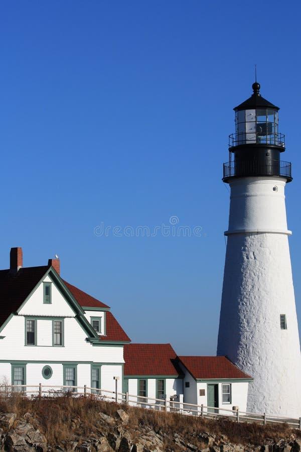 Cape Elizabeth Lighthouse royalty free stock photo