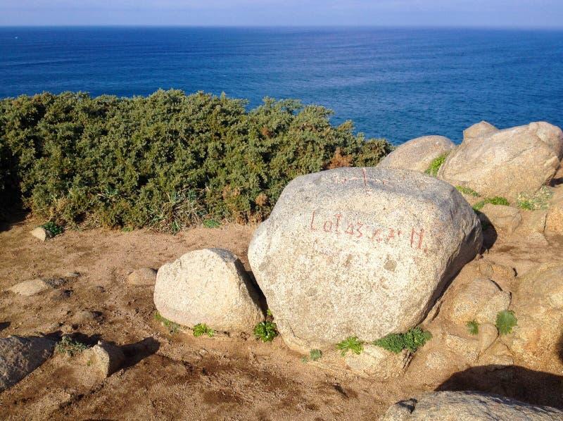 Cape Estaca DE Bares is een voorgebergte en een extreem noordelijk punt van het Iberische schiereiland stock fotografie