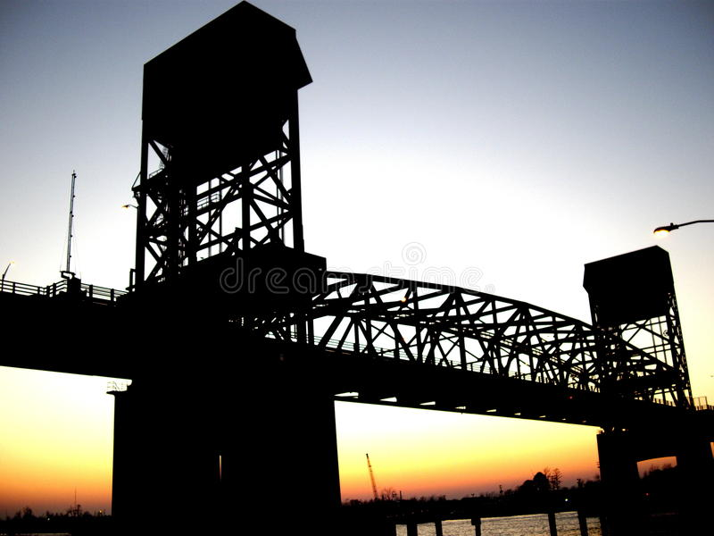 Cape Fear Bridge stock photos