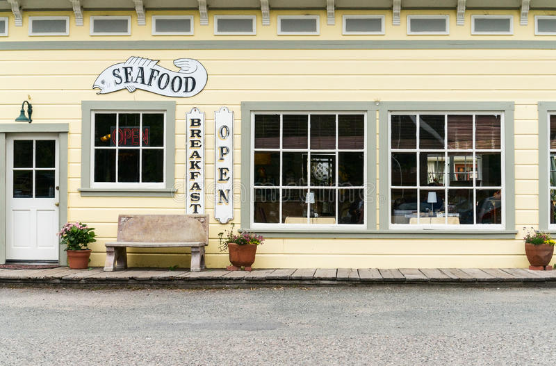 Cape Fear Cafe. Cafe in a small town in Sonoma County, California royalty free stock image