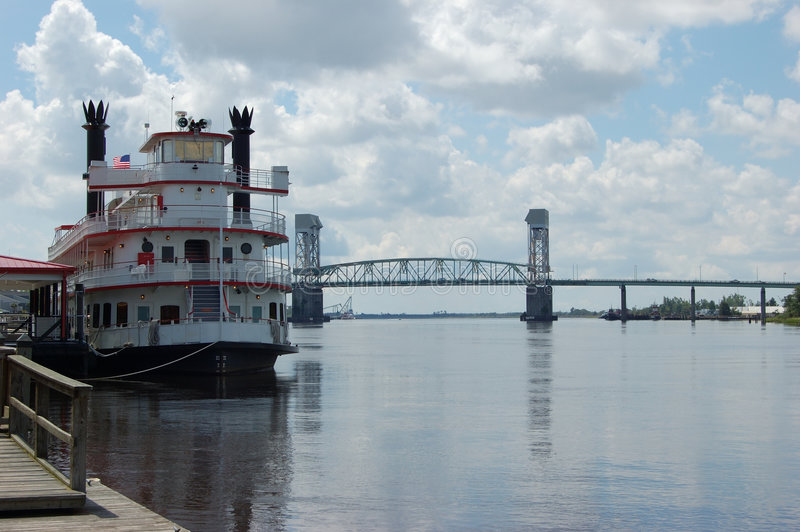 Cape Fear Memorial Bridge royalty free stock photo