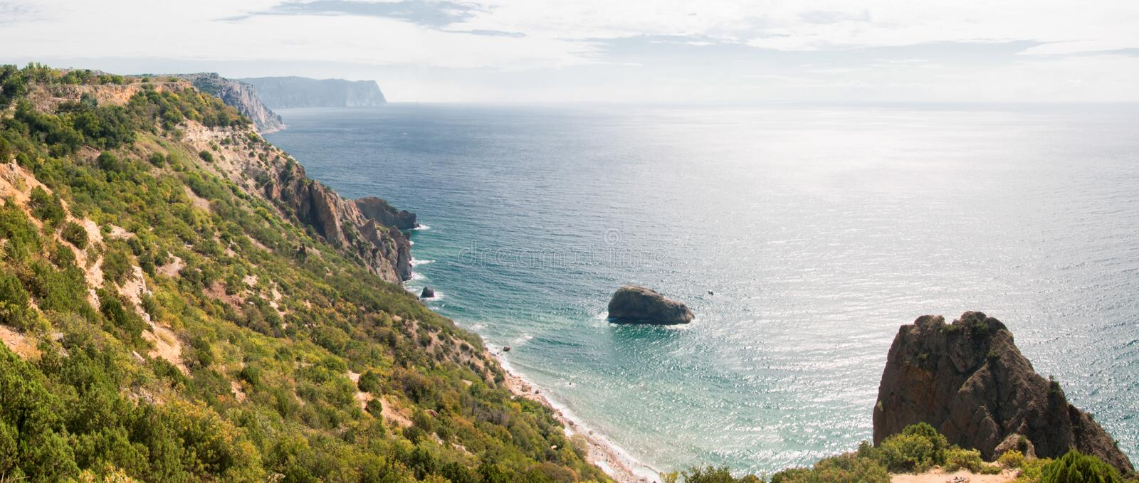 Cape Fiolent. Fiolent cape, Crimea. Black Sea royalty free stock photography
