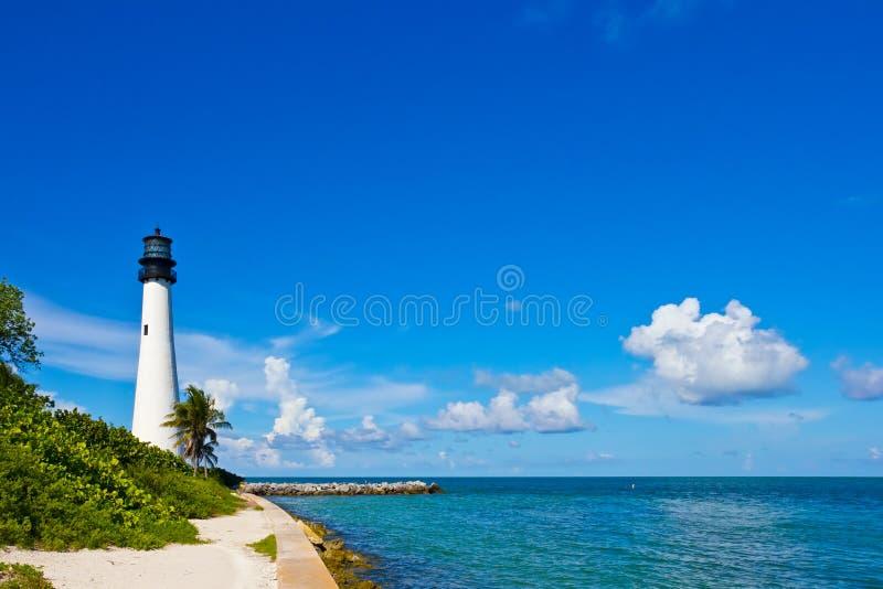 Cape Florida Lighthouse. Key Biscayne, Miami, Florida, USA stock photography