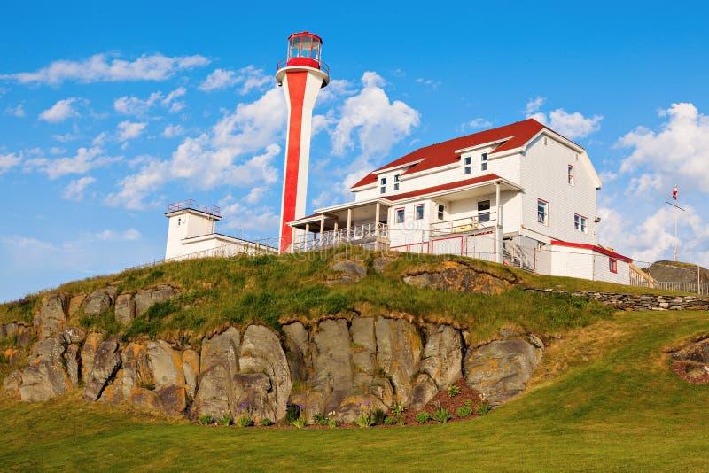 Cape Forchu Lighthouse. Yarmouth, Nova Scotia, Canada stock photos