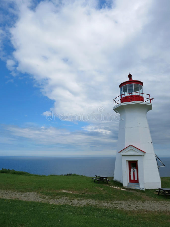 Cape Gaspé Lighthouse royalty free stock photos