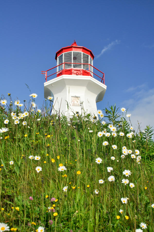 Cape Gaspe lighthouse, Quebec. (Canada royalty free stock photo