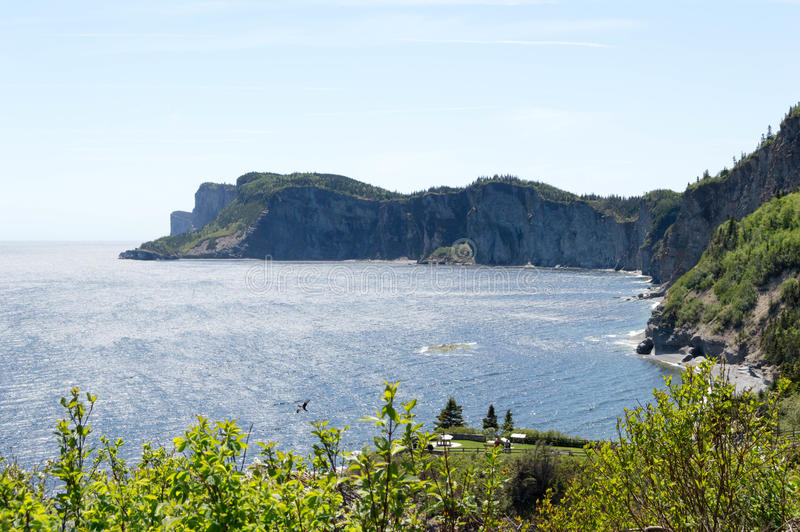Cape Gaspe. Is located in Forilon National Park, Quebec, Canada. This is the farthest north portion of the Appalachians royalty free stock photos