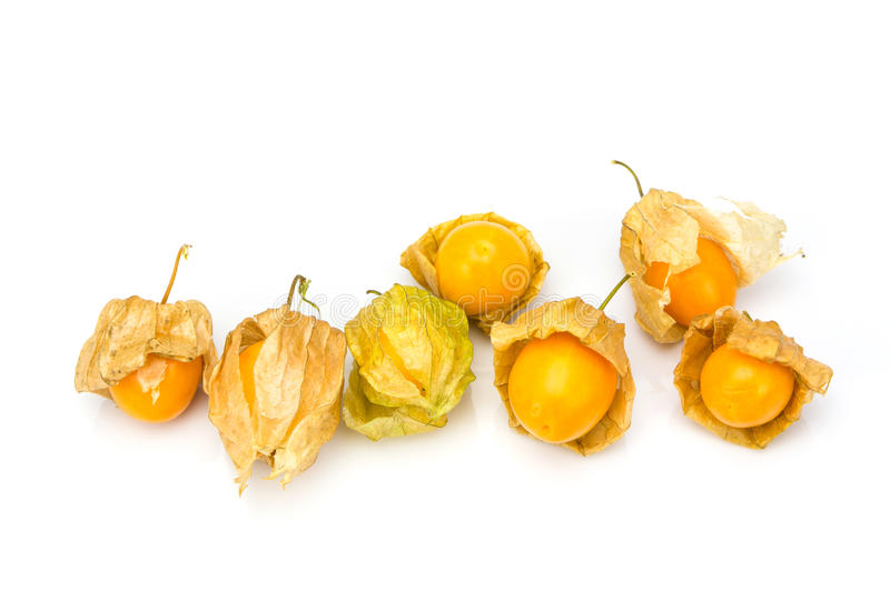 Cape gooseberry on white stock photo