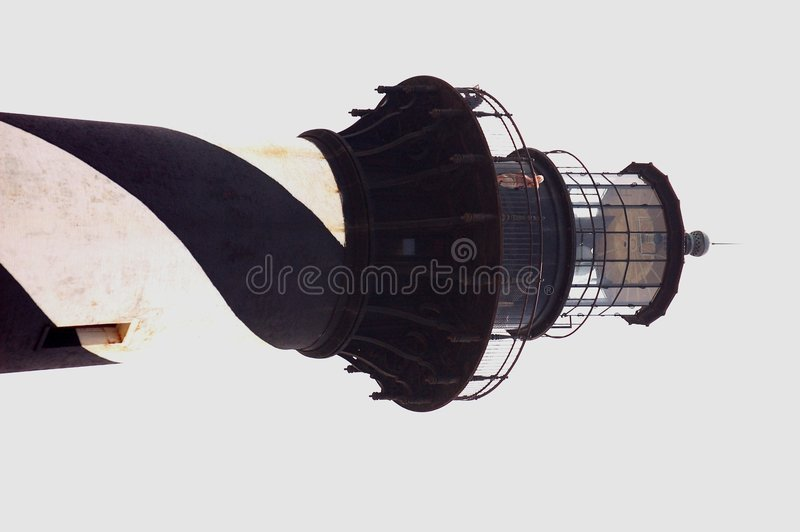Cape hattaras lighthouse up close. royalty free stock photos