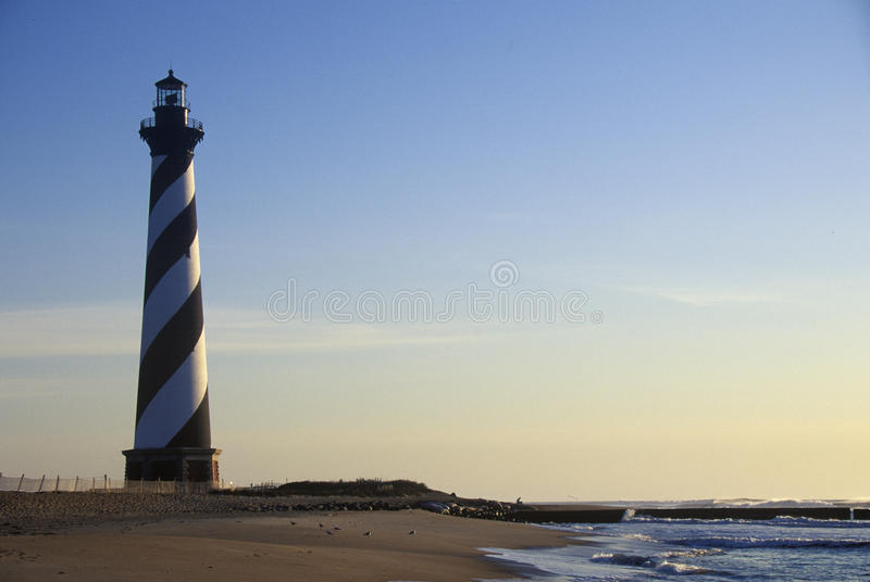Cape Hatteras Lighthouse at Cape Hatteras National Seashore, NC royalty free stock photo