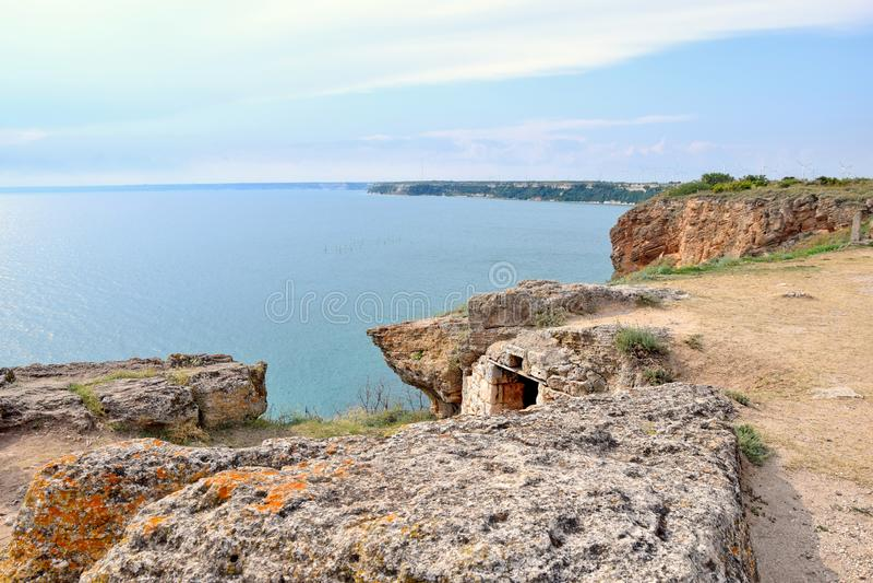 Cape Kaliakra Sea View and Remains arkivbild
