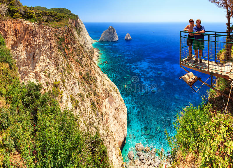 Cape Keri cliffs stock image
