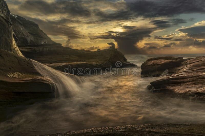 Cape Kiwanda Sunset stock photography